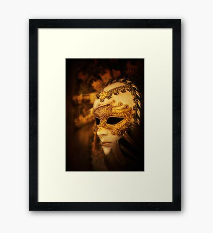Hiding Behind the Mask Framed Print