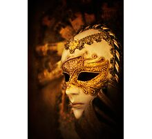 Hiding Behind the Mask Photographic Print