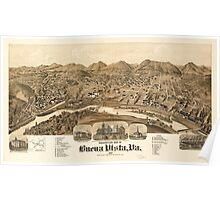 Panoramic Maps Perspective map of Buena Vista Va 1891 Poster