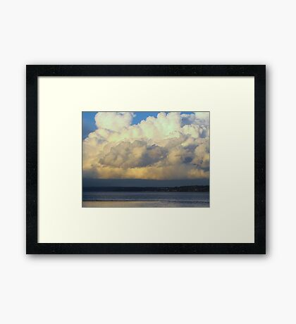 Cloud...Out To Sea... Framed Print