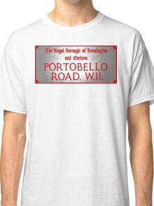 Portobello Road Sign Classic T-Shirt