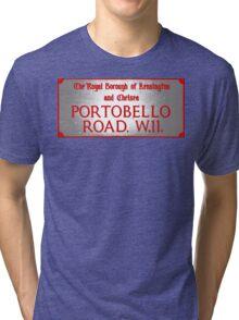 Portobello Road Sign Tri-blend T-Shirt
