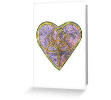 Rustic Heart Celtic Knot Greeting Card