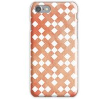 Red Square Puzzle Pattern iPhone Case/Skin