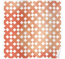 Red Square Puzzle Pattern Poster
