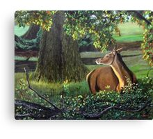 Doe at Twilight Canvas Print
