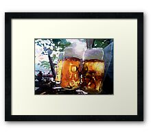 In The Beer Garden Framed Print