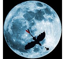 Full Moon Flight Photographic Print