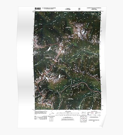USGS Topo Map Washington State WA Labyrinth Mountain 20110428 TM Poster