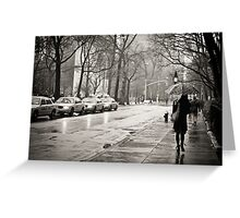 Rainy Day - Greenwich Village - New York City  Greeting Card