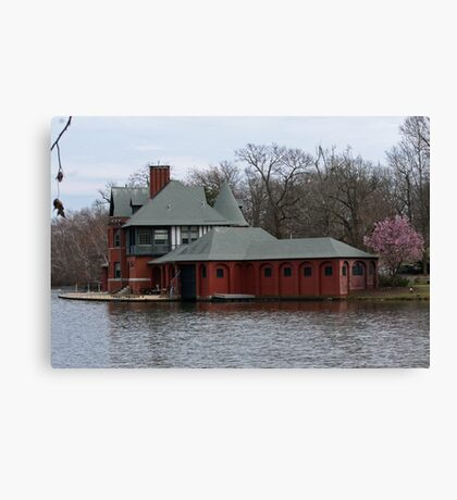 Boathouse at Roger Williams Park Canvas Print