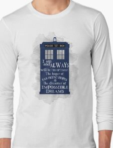 Dr Who - The Optimist quote  Long Sleeve T-Shirt
