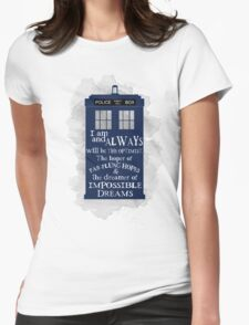 Dr Who - The Optimist quote  Womens Fitted T-Shirt