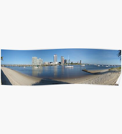 Broadwater panorama Poster