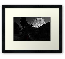 Who Let The Bats Out? Framed Print