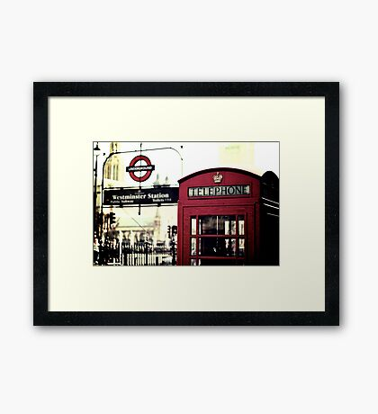 The Red Box in Westminster  Framed Print