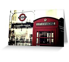 The Red Box in Westminster  Greeting Card