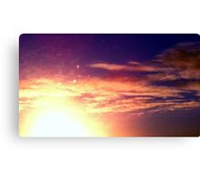 sunny red golden blue sky  Canvas Print