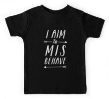 Aim To Misbehave | Black Kids Tee