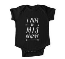 Aim To Misbehave | Black One Piece - Short Sleeve