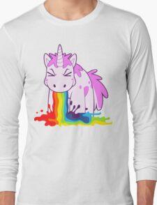 Unicorn 'I Puke Rainbows!' Long Sleeve T-Shirt