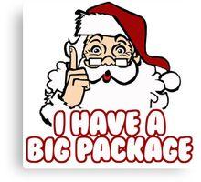 Christmas - Santa's Big Package Canvas Print