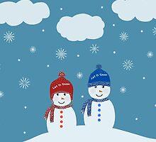 Snowman - Let It Snow Illustration by Cristina Bianco Design