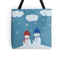 Snowman - Let It Snow Illustration Tote Bag