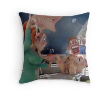 Wax off Throw Pillow
