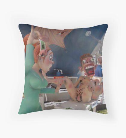 Wax off Throw Pillow