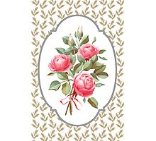 bouquet of three roses Photographic Print