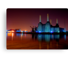 Battersea power station night shot Canvas Print