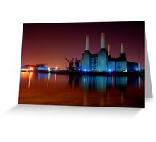 Battersea power station night shot Greeting Card