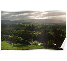 A View of Tasmania's Macquarie Plains Poster