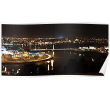 My beautiful city at night Poster
