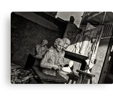 Sculptures in the window Canvas Print
