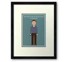 """Jeff Winger: """"Facebook Photo"""" Framed Print"""