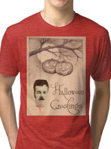 Just Hanging Around (Vintage Halloween Card) Tri-blend T-Shirt