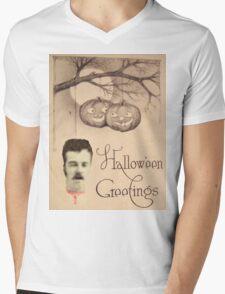 Just Hanging Around (Vintage Halloween Card) Mens V-Neck T-Shirt