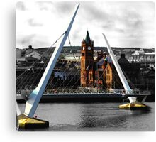 Peace Bridge and Guildhall Canvas Print