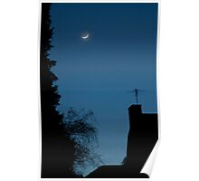 Moon Setting on Aldarra Poster
