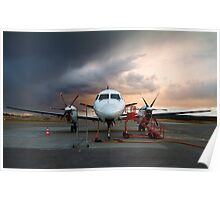 Parked aircraft. Poster