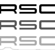 Porsche Sticker