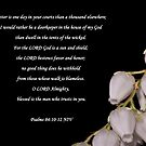 Psalms 84:10-12  by Deborah McLain