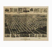 Panoramic Maps Bird's eye view of Fitzgerald Georgia 1908 One Piece - Short Sleeve