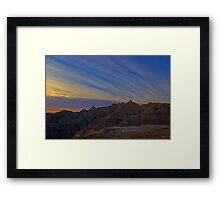 Streaming Clouds Framed Print
