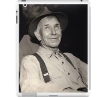 Man with Hat iPad Case/Skin