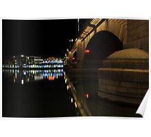 Reflections At London Bridge Poster