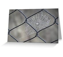 Web and Wire Greeting Card