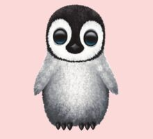 Cute Baby Penguin on Pink One Piece - Short Sleeve